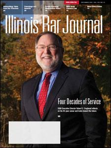 That's Robert Craghead--not Santa--gracing the cover of the December Illinois Bar Journal.
