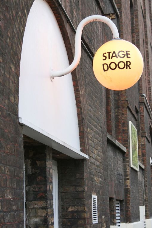 Creatives always welcome: Old Vic Theatre stage door (photo by YellowFratello via Wikimedia Commons).