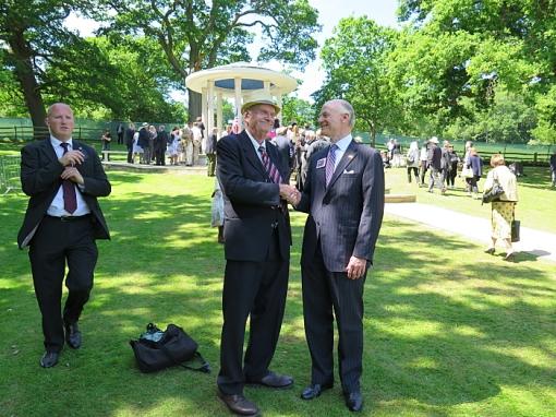Stan Lehman greets William C. Hubbard, ABA President (2014-15). Magna Carta