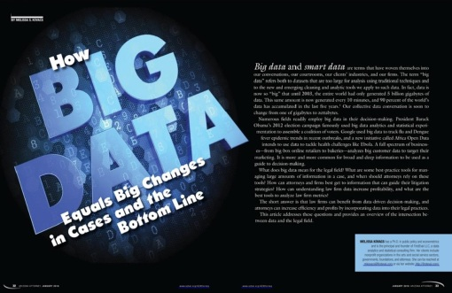 Opening spread for our data story by Melissa Kovacs, Arizona Attorney, January 2016.