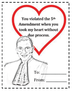 RBG Valentine via Georgetown Law Weekly