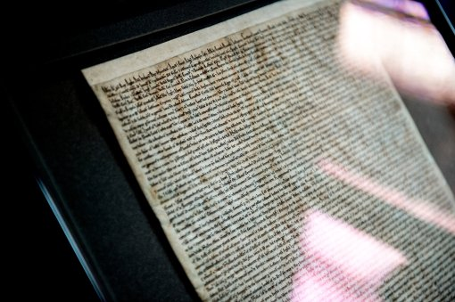 Yes, that's Magna Carta, on vellum.