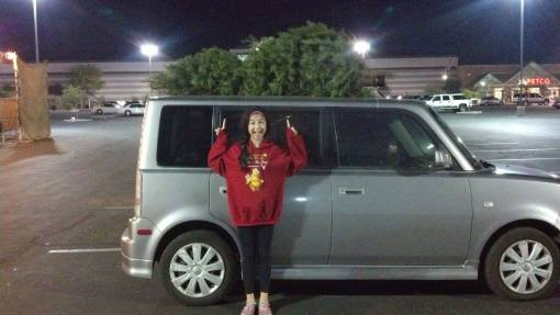 Maybe not what Toyota expected, the Scion xB proved to be a great family car. (As our younger daughter and a Christmas tree demonstrate.)