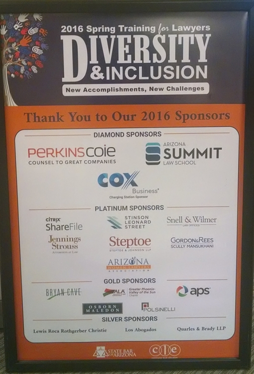 The sponsors for Spring Training for Lawyers 2016