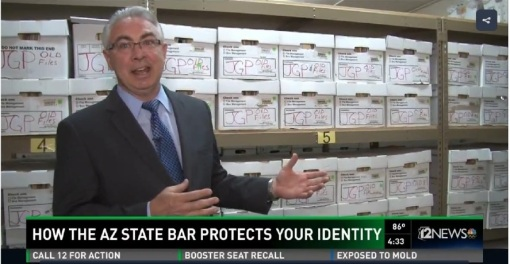State Bar of Arizona conservatorship program heads off identity theft: General Counsel John Furlong interviewed by 12 News.