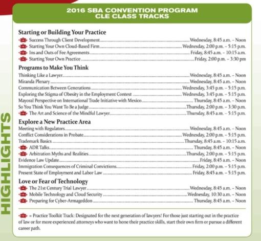 SBA Convention 2016 seminar tracks web use
