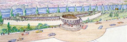 Frank Lloyd Wright design for a Baghdad, Iraq project.