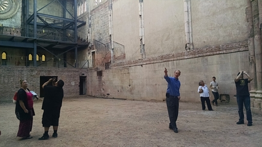 Attorney Terry Goddard leads a tour of the Monroe Abbey, April 21, 2016.
