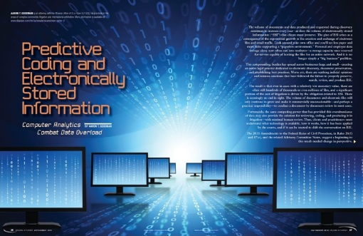 predictive coding in ediscovery spread July August 2016-page0001