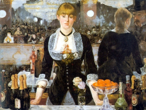 Un bar aux Folies Bergère, by Edouard Manet (via Wikimedia Commons)