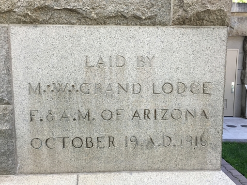 Yavapai County Courthouse cornerstone
