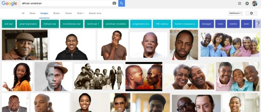 "Google image search results for ""African American,"" Oct. 9, 2016."