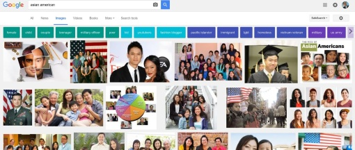 "Google image search results for ""Asian American,"" Oct. 9, 2016."