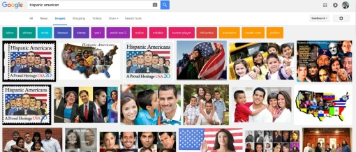 "Google image search results for ""Hispanic American,"" Oct. 9, 2016."