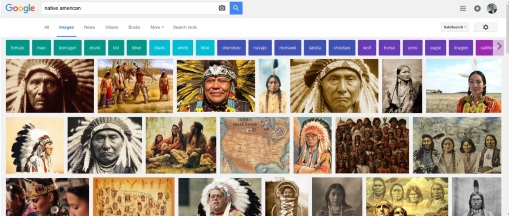 "Google image search results for ""Native American,"" Oct. 9, 2016."