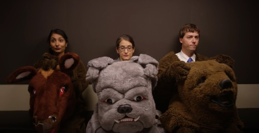 Law students (maybe not really) await their mascot auditions (not really) in a new video from UC-Hastings College of Law.