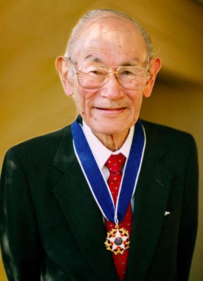 Fred T. Korematsu with the Presidential Medal of Freedom