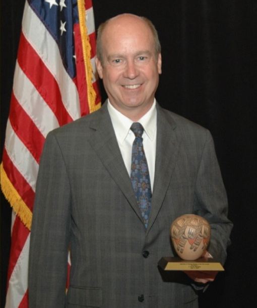 Attorney Scott Rhodes accepting the 2010 State Bar Member of the Year Award.