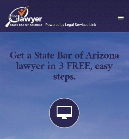 State Bar of Arizona Find a Lawyer screenshot