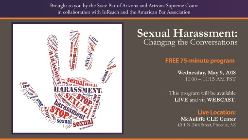 State Bar of Arizona sexual harassment seminar 05-09-18 image 1